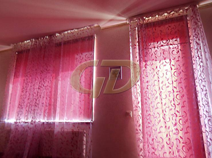 Дизайн штор вместе с